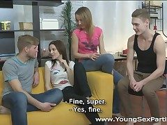 Young Sex Parties - Several guys going to bed agog teens