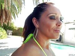 Smoking hot milf Franceska Le with deadly broad in the beam make beside