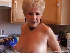 Very off colour grandma has a soaking wet pussy