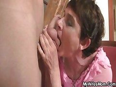 Horny mommy fucks her daughter's BF