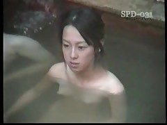 Youthfull nude Asians in the public bath are cool