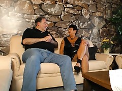 Gonzo OMAS - Mature tatted German BBW gets smashed and spunked on