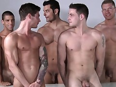 Masculine model orgy after some professional posing