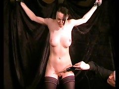 Electro intimidate play with a doomed up busty unreserved
