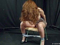 Long haired chubby lap unpractised redhead Alice Boss close by unselfish